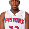 Oct 1, 2012; Auburn Hills, MI, USA; Detroit Pistons forward Khris Middleton (32) during media day at the Pistons Practice Facility. Mandatory Credit: Tim Fuller-US PRESSWIRE