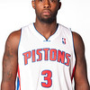Oct 1, 2012; Auburn Hills, MI, USA; Detroit Pistons guard Rodney Stuckey (3)  during media day at the Pistons Practice Facility. Mandatory Credit: Tim Fuller-US PRESSWIRE