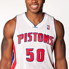 Oct 1, 2012; Auburn Hills, MI, USA; Detroit Pistons guard/forward Corey Maggette (50) during media day at the Pistons Practice Facility. Mandatory Credit: Tim Fuller-US PRESSWIRE
