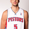 Oct 1, 2012; Auburn Hills, MI, USA; Detroit Pistons forward Austin Daye (5) during media day at the Pistons Practice Facility. Mandatory Credit: Tim Fuller-US PRESSWIRE