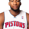 Oct 1, 2012; Auburn Hills, MI, USA; Detroit Pistons forward Andre Drummond (1) during media day at the Pistons Practice Facility. Mandatory Credit: Tim Fuller-US PRESSWIRE