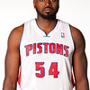 Oct 1, 2012; Auburn Hills, MI, USA; Detroit Pistons forward Jason Maxiell (54) during media day at the Pistons Practice Facility. Mandatory Credit: Tim Fuller-US PRESSWIRE