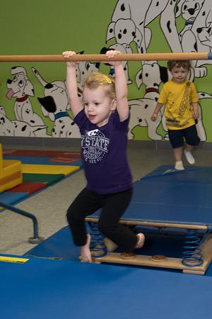 Brynlee at gymnastics class-9