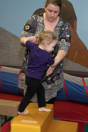 Brynlee at gymnastics class-5