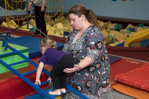 Brynlee at gymnastics class-4