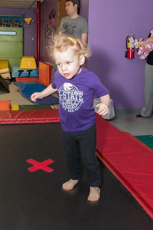 Brynlee at gymnastics class-3