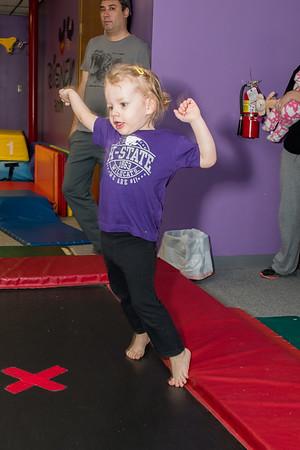 Brynlee at gymnastics class-2