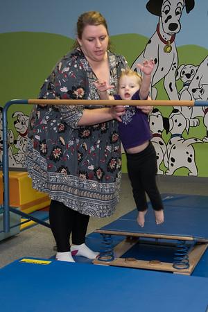 Brynlee at gymnastics class-6