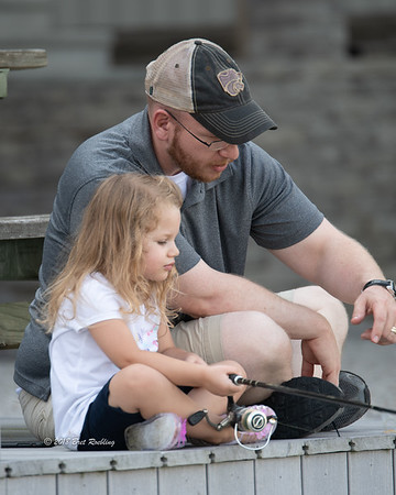 Daddy Daughter Fishing Trip by Evansville Photographer Bret Roebling