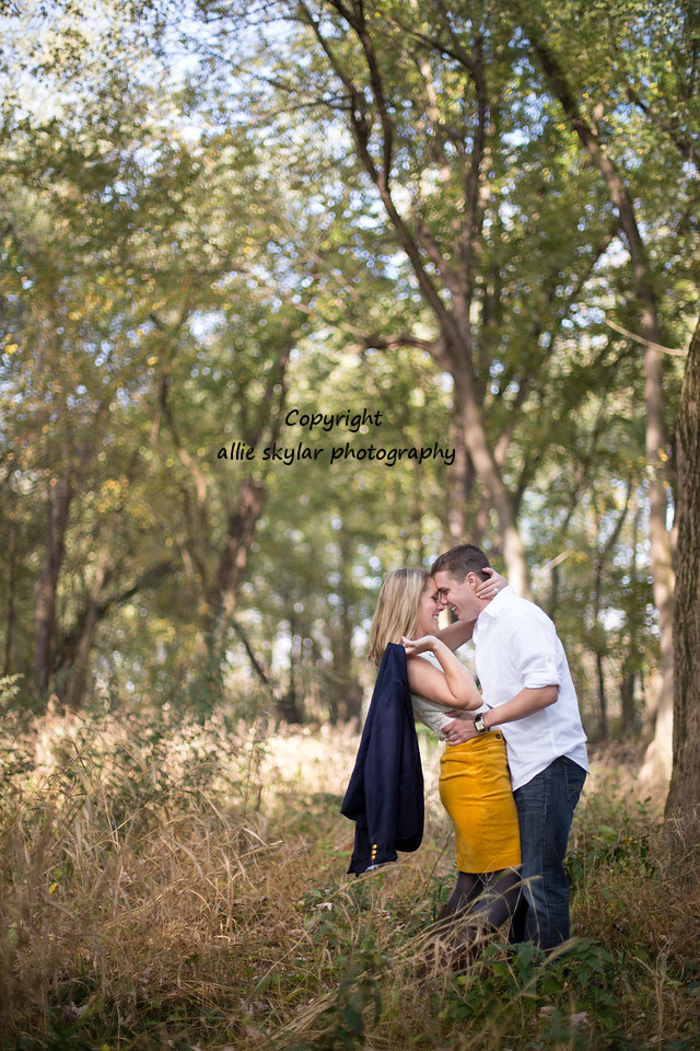 Bloomsburg Engagement Photography: Kayla and Jeffrey had a chic and romantic sunrise engagement session with a beautiful fall backdrop.  Their wedding is bound to be stunning.