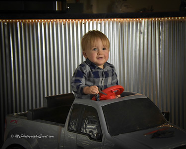 Children's Photos in a truck