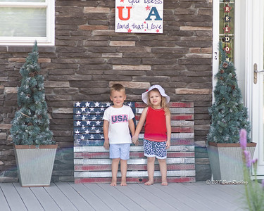 Children on 4th of July