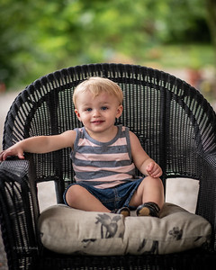 Evan 12 Months old Photographed by Evansville Photographer Bret Roebling