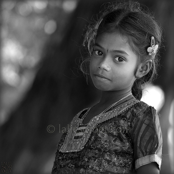 Little girl on the island of Rameswaram, Tamil Nadu, India.<br /> Petite fille sur l'île de Rameswaram, Tamil Nadu, India.