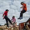 Trampolining Kids, Tiniteqilaaq, Greenland