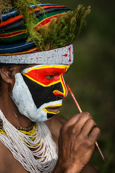 Preparing for the Sing Sing Festival, Papua New Guinea