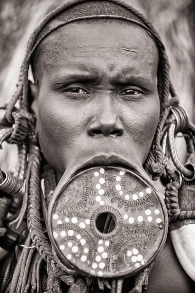 Mursi Woman, Ethiopia