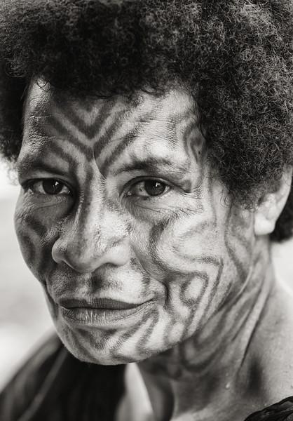 Tattooed  Woman, Papua New Guinea