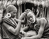 Mursi Head Shaving, Ethiopia
