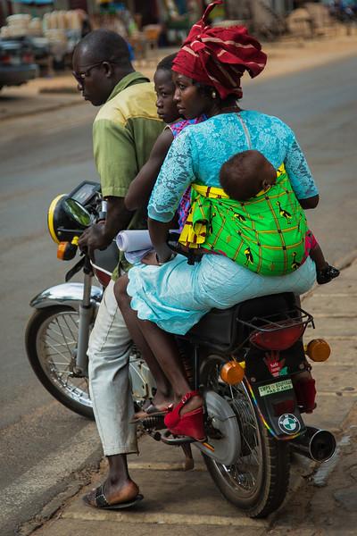 Family on Motorcycle, Benin