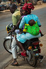 Family on Motorcycle, Benin