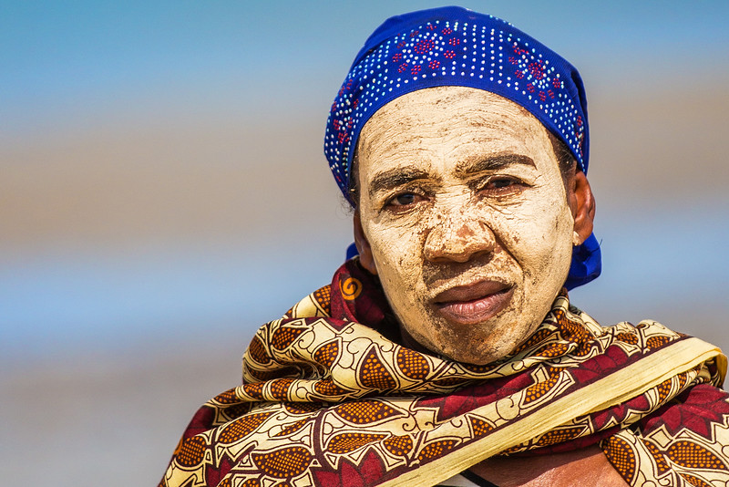 Anjajavy Beach Woman, Madagascar