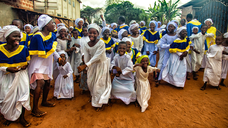 Dancing Children of Celestial Church, Benin