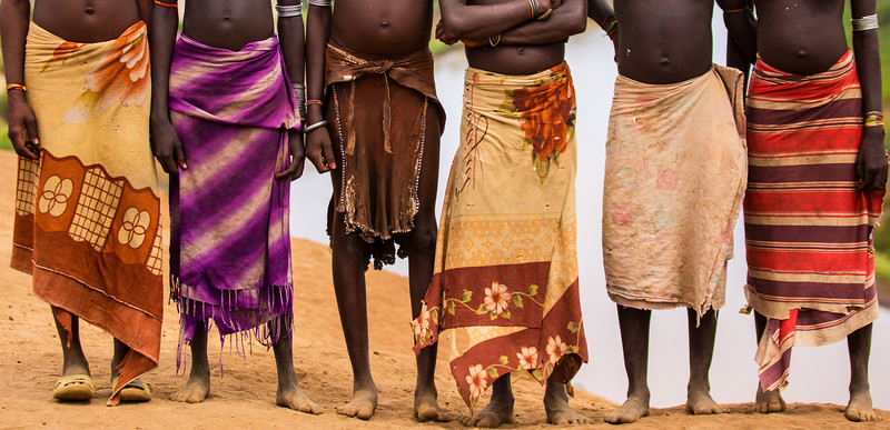 Karo Tribe, Skirts and Bellies, Ethiopia