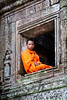 Yong Monk in Window, Cambodia