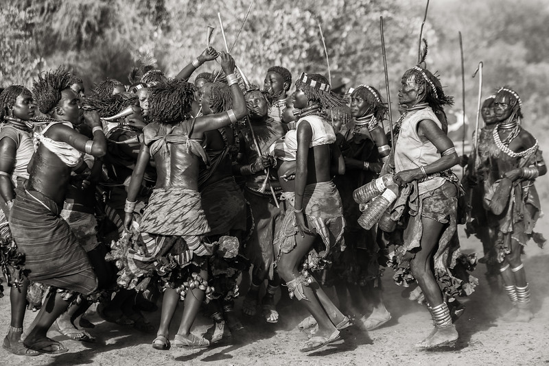 Bull Jumping Ceremony Dancers, Ethiopia