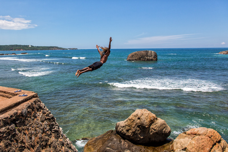 Cliff Diver, Galle, Sri Lanka