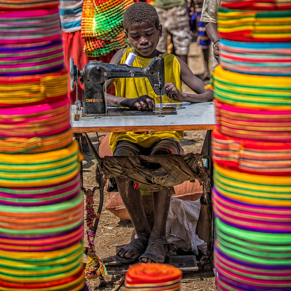Sewing Boy, Ethiopia