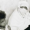 Palestinian Grandmother and Child