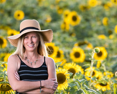 Stacey Sloughfy in the Bluegrass FWA Sunflowers Photographed by Evansville Photographer Bret Roebling and My Photography Event