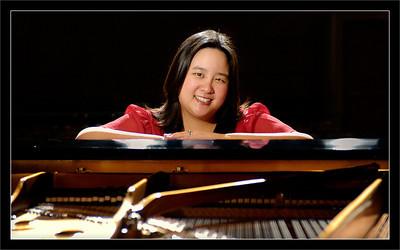 Christine  At the piano  School of Music University of Michigan, Ann Arbor  25-MAY-2008