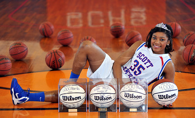 Scott Central's Victoria Vivians has scored over 4,000 career points.