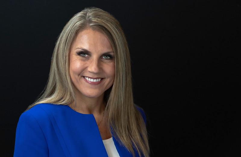 Women's Corporate Headshots over black background