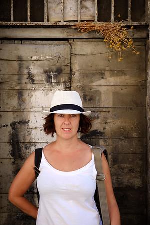 White hat tourist