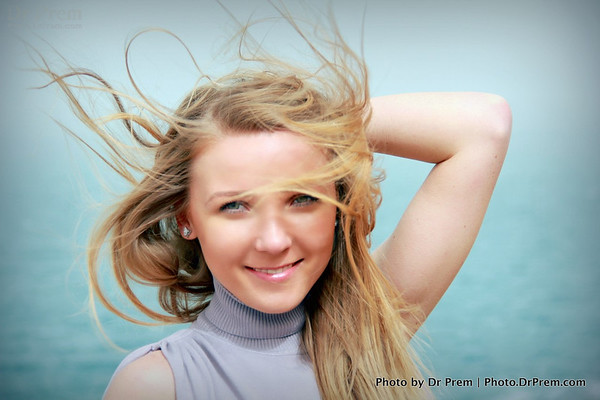 Flying hair of  stolen princess - a portrait of a young girl - Anna from Ukrain in Jordan.