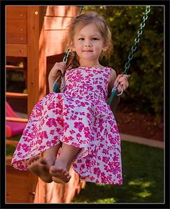 Amelia on Her Swing