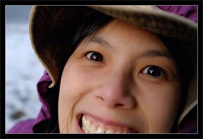 Kaiann  Kaiann photobombs her own portrait.  Yosemite National Park, California  11-DEC-2010