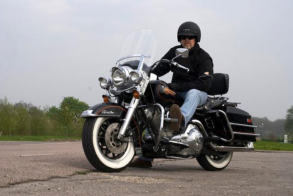 Ian on his Motorbike