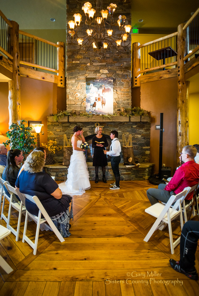 M&Ms - Maggie and Meqia's wedding at Aspens Lakes on May 21, 2016 © Gary N. Miller, Sisters Country Photography