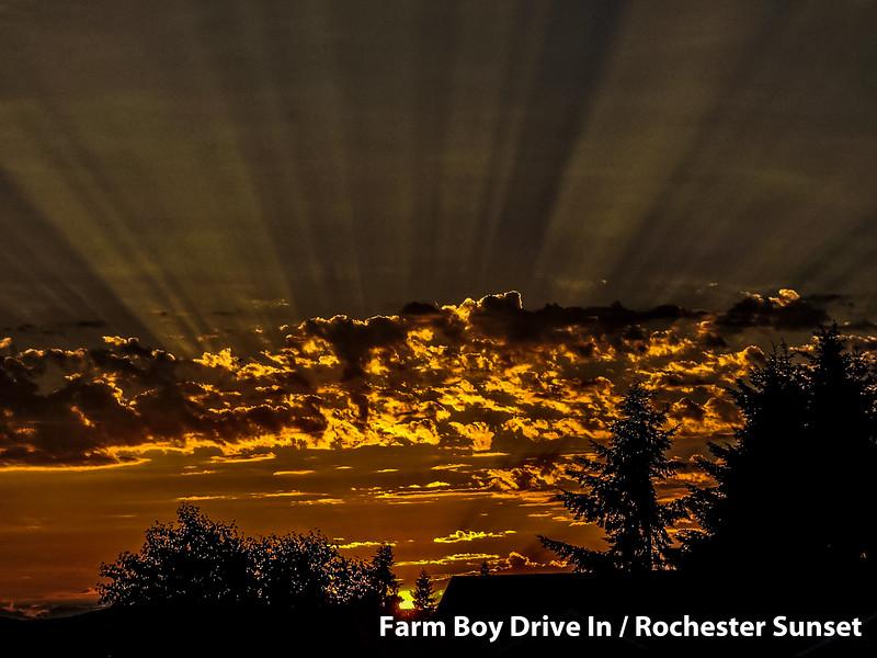 Farm Boy, Drive In, Restaurant, Rochester, Sunset