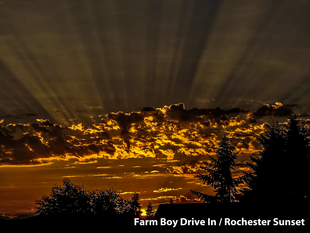 Farm Boy, Drive In, Restaurant, Rochester, Sunset