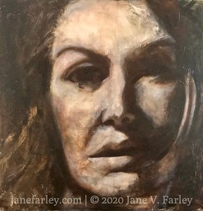 NANA - large abstract portrait