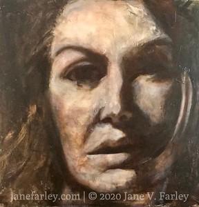 NANA - large abstract portrait