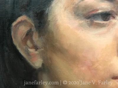 Oil portrait workshop with Cesar Santos at the Florence Studio  (in progress)