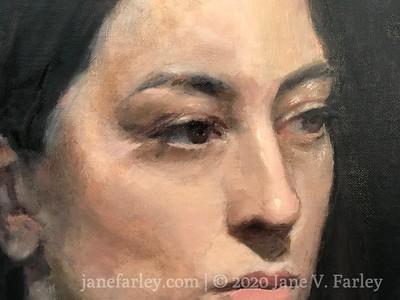 Portrait painting  with Cesar Santos
