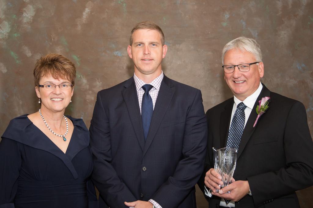 President Faith Hensrud, Ben McAninch, Bruce Sutor